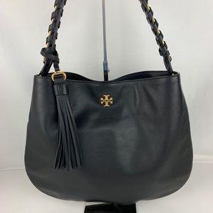 Tory Burch Brooke Black Leather Shoulder Bag